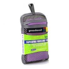 מגבת לטיולים - Superfine Towel L - Green-Hermit