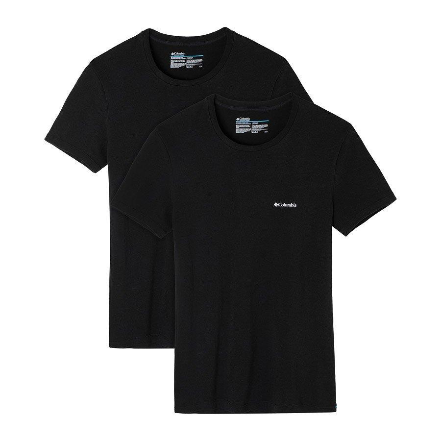 מארז שתי חולצות לגברים - Cotton Stretch Crew Neck T 2-pk - Columbia