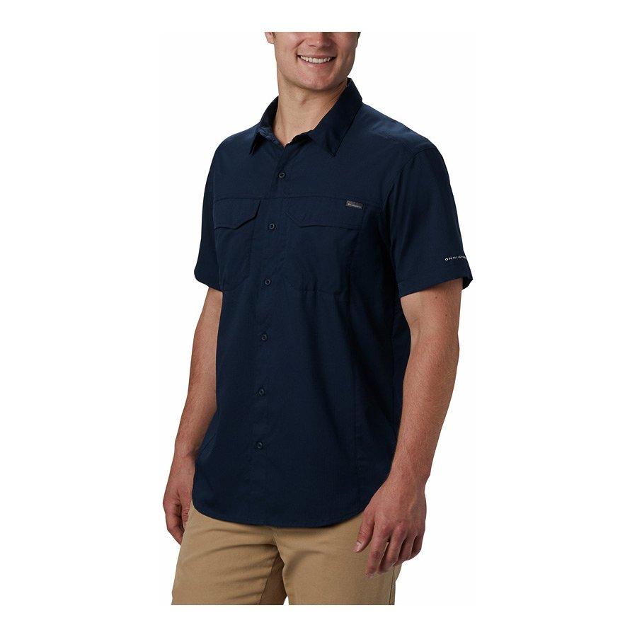 חולצה קצרה לגברים במידות גדולות - Silver Ridge Lite S/S X - Columbia