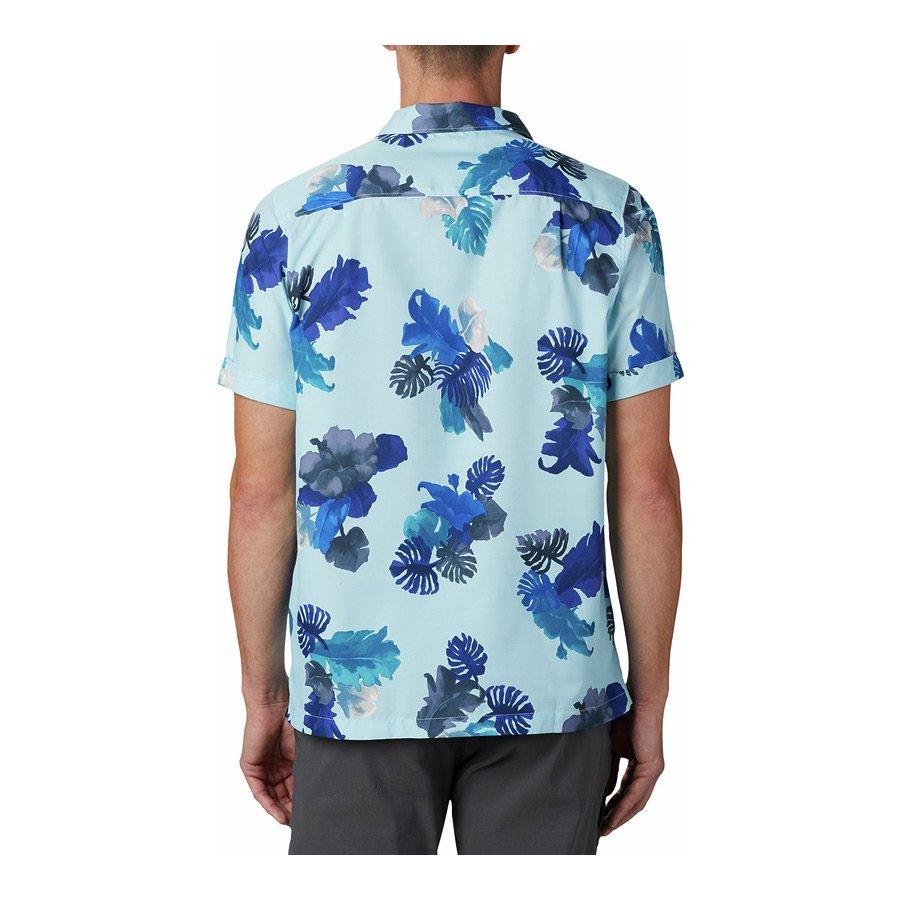 חולצה קצרה לגברים - Outdoor Elements S/S Print - Columbia