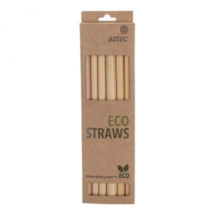 סט קשים רב פעמיים - Bamboo Straw Six Pack - Aztec