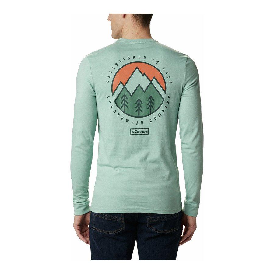חולצה לגברים - Cades Cove L/S Graphic T - Columbia