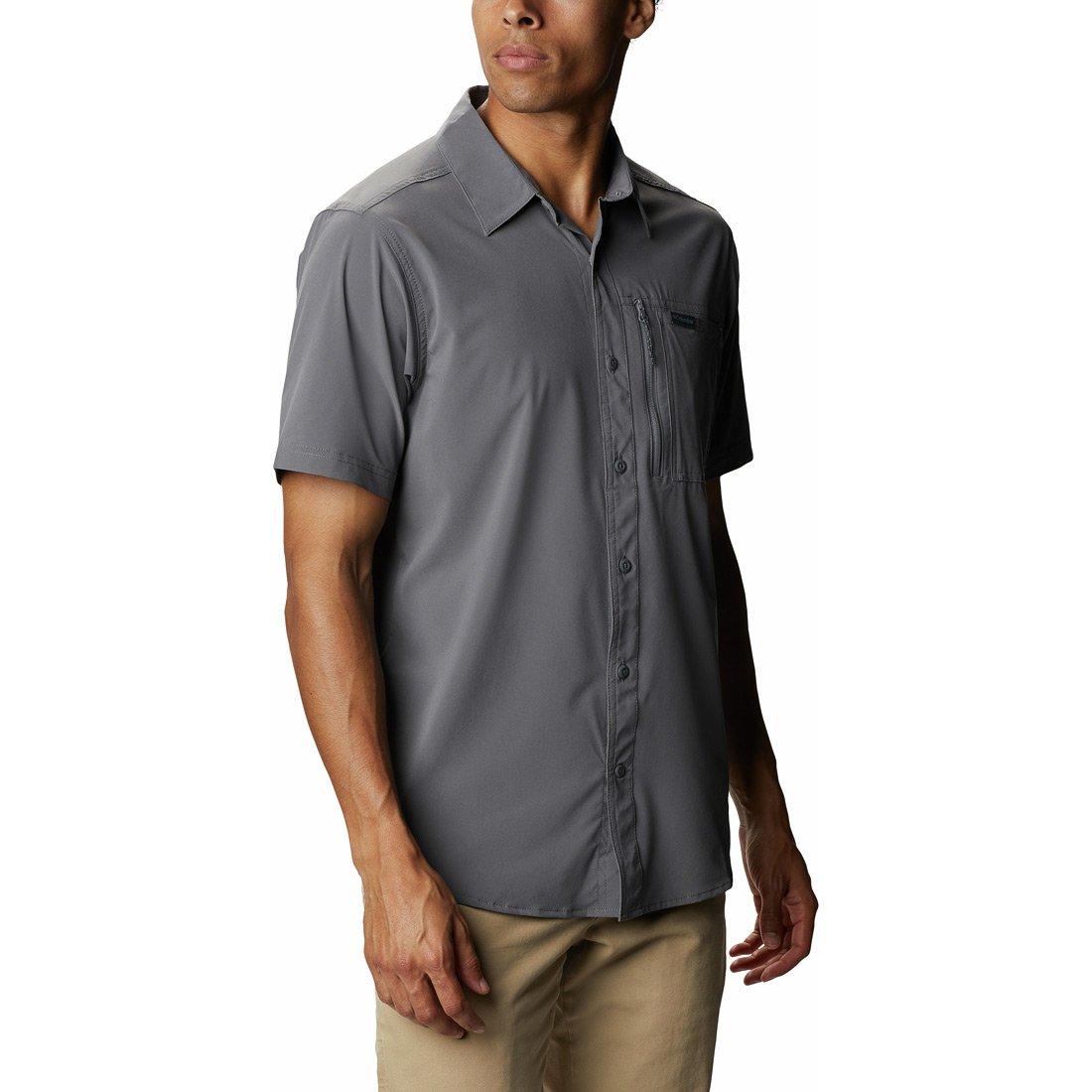 חולצה קצרה לגברים - Triple Canyon Solid S/S II - Columbia