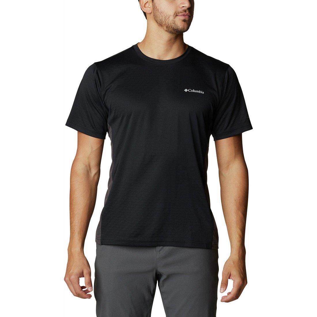 חולצה קצרה לגברים - M Zero Ice Cirro-cool S/S - Columbia