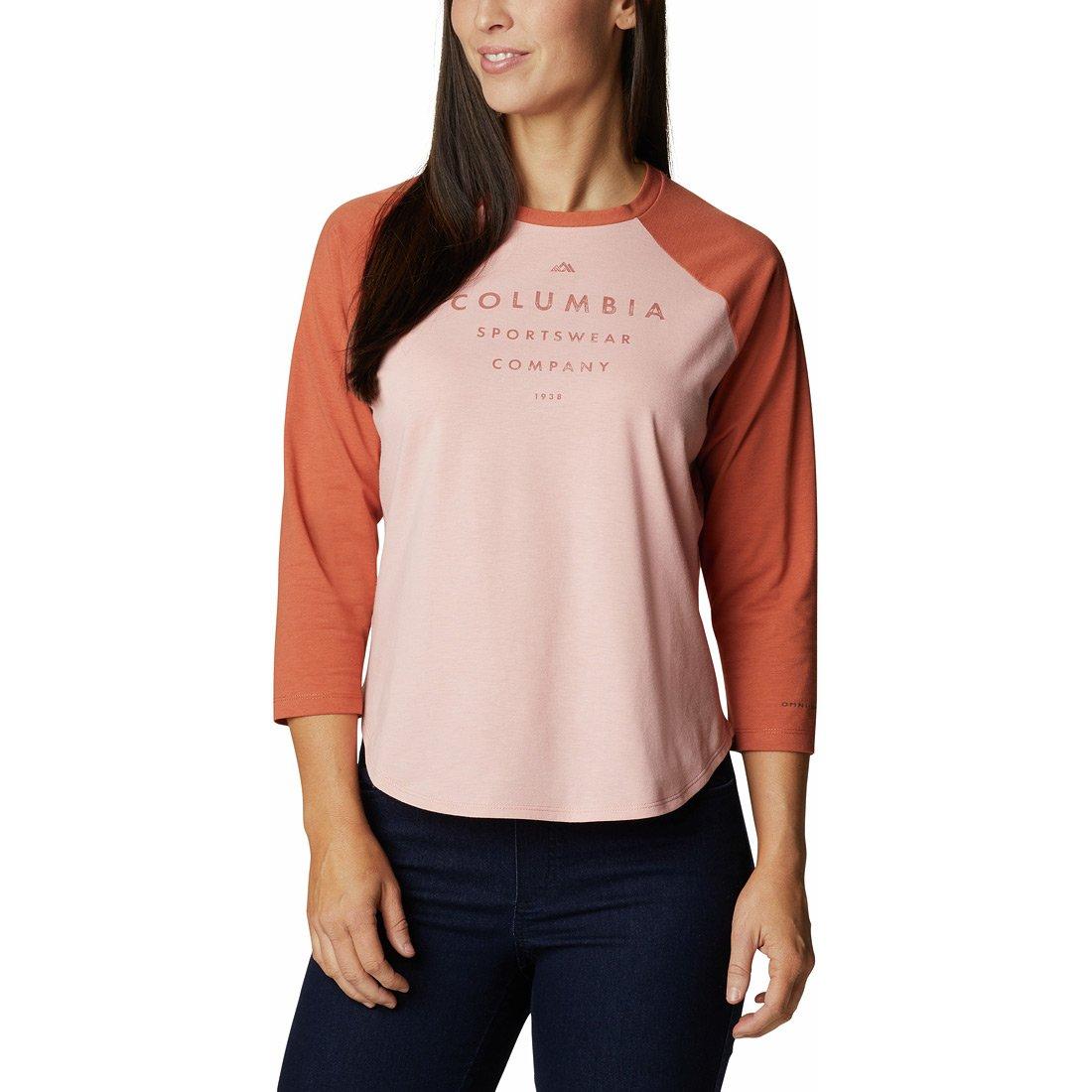 חולצה לנשים - Sun Trek 3/4 Sleeve T - Columbia