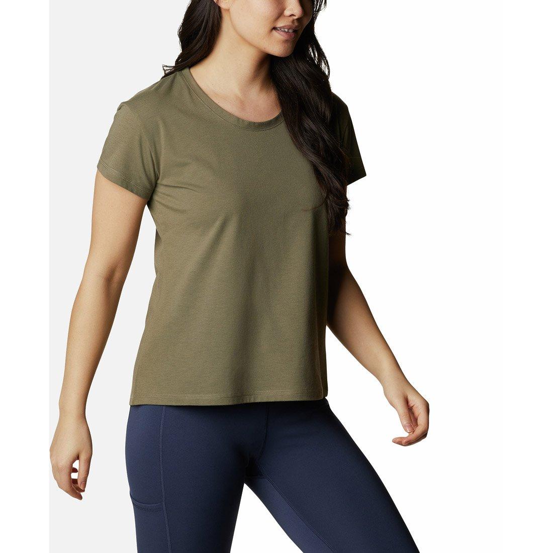 חולצה לנשים - Sun Trek Short Sleeve Tee - Columbia