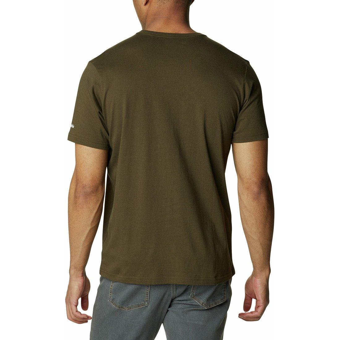 חולצה לגברים - Columbia Trek Logo S/S - Columbia